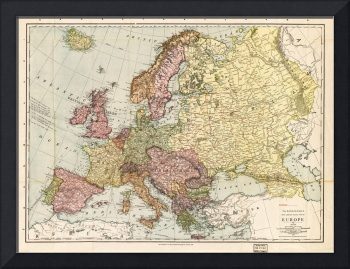 Atlas Map of Europe (1912)