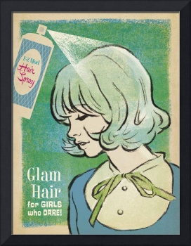 Glam Hair - Retro Fashion Poster