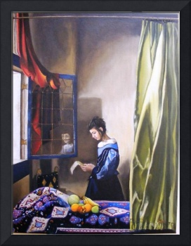 Girl Reading a Letter By An Open WIndow 2009