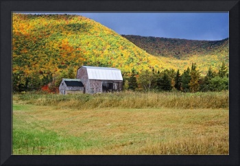 Old Barn In The Fall, Nova Scotia, Canada