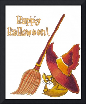 Cat and Broomstick