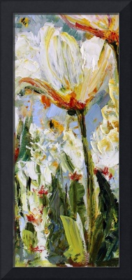 Abstract Spring Tulips Oil Painting