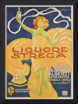 Poster advertising 'Strega' liquer, 1906 (colour l