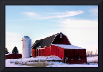 Winter Landscape Red Barn