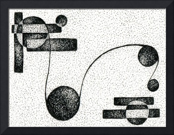 Abstract Pen & Ink Fine Art By Doug Ashby