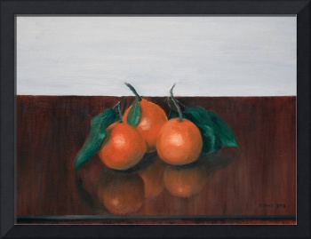 Three Satsumas on Table