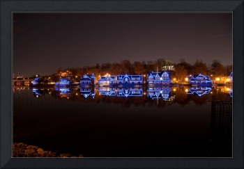 2011 Philadelphia Night Skyline Boathouse Row