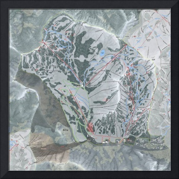Alta Ski Resort Trail Map