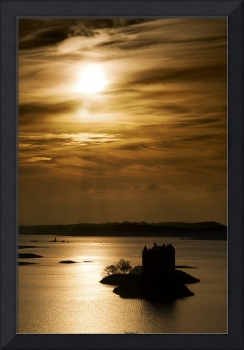 Castle Stalker At Sunset, Loch Laich, Scotland