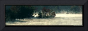 foggy waterscape