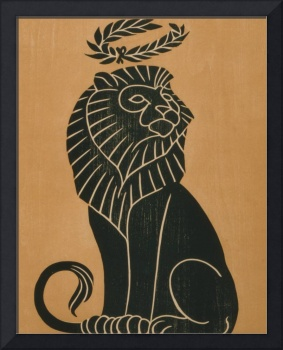 Vintage Lion Art Deco Illustration (1917)