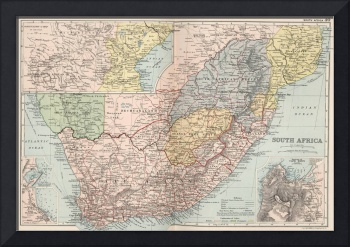 Vintage Map of South Africa (1892)