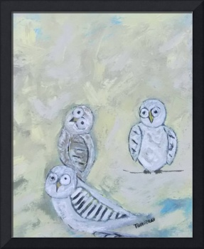3 Suspended Owls