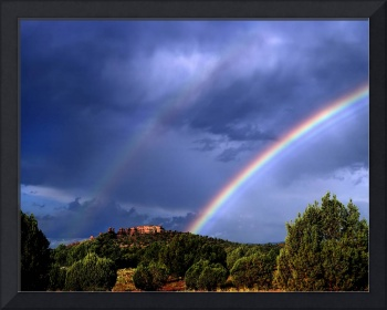 double rainbow over sedona
