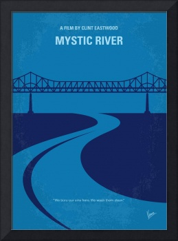No729 My Mystic River minimal movie poster