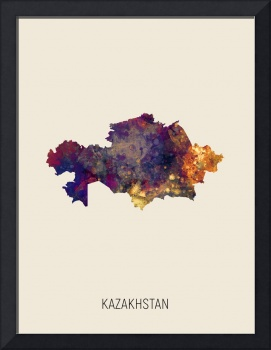 Kazakhstan Watercolor Map