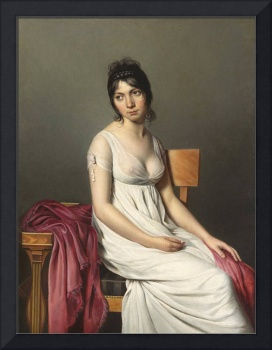 Jacques-Louis David~Portrait of a Young Woman in W