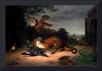 Printz - Fox in the Poultry Yard 1860