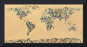 Paint splatter world map 2