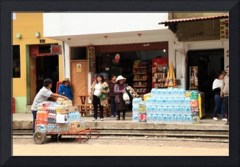 Delivery Worker in Aguas Calientes Peru