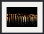 Indian River Bridge at Night 4565 by Jacque Alameddine