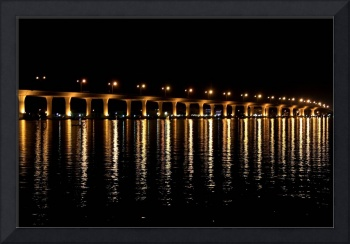 Indian River Bridge at Night 4565