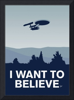 My I want to believe minimal poster-Enterprice
