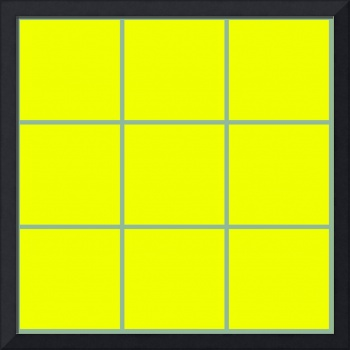 Yellow Window 111 Canvas Contemporary Modern