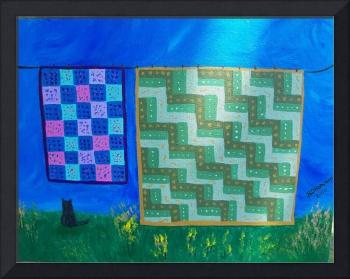 quilts on clothes line #1