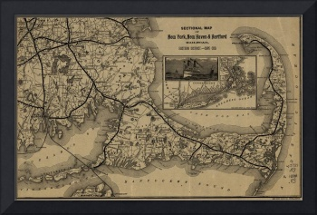 Vintage Cape Cod Railroad Map (1893)