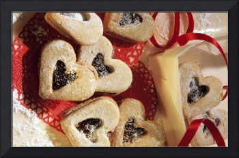 Valentine Jelly Heart Cookies