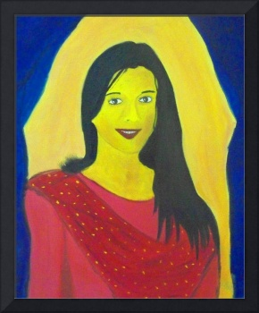 Oil on Canvas - Portrait of Suyasha..!!!