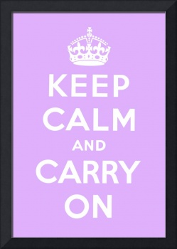 Purple Keep Calm And Carry On 4