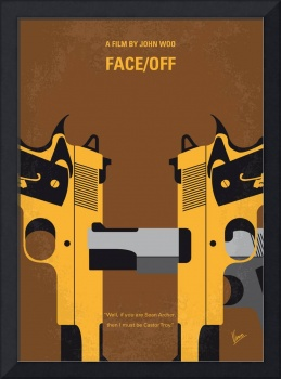 No576 My Face Off minimal movie poster