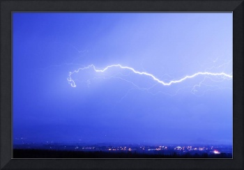 Lightning Over North Boulder County Colorado