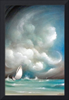 Sailboat in Stormy Sea