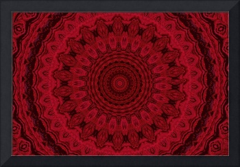 Red and Black Wheel Mandala 2