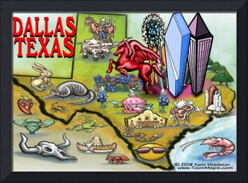 Dallas TEXAS Map