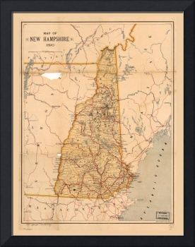 Map of New Hampshire (1890)
