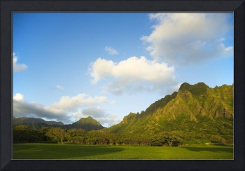 Hawaii, Oahu, View Of Kualoa Ranch From Kualoa Bea
