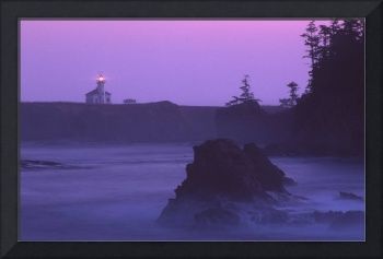 Cape Arago Lighthouse At Dawn