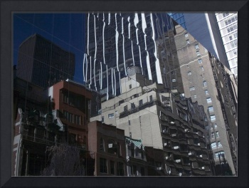 NYC Side Street Reflection