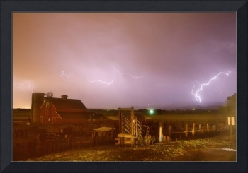 McIntosh Farm Lightning Thunderstorm View