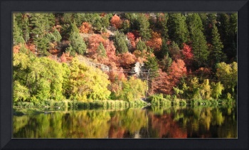 fall colors with reflection