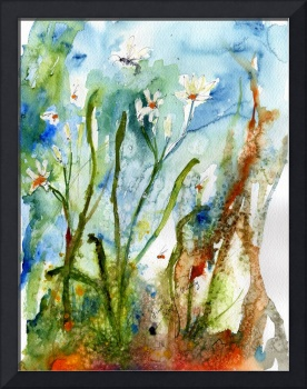 Georgia Wildflower Wild Garlic Watercolor