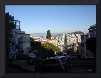 Coit Tower From Lombard Street in San Francisco