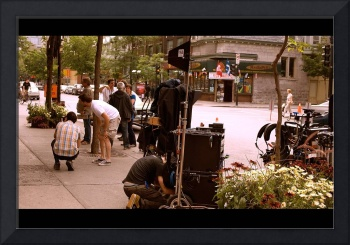 Downtown movie set