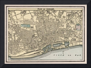 Vintage Map of Dundee Scotland (1901)
