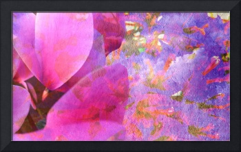 Cyclamen and bougainvillea texture eight