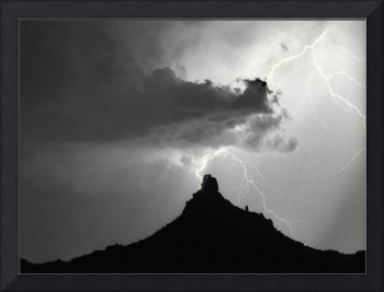 Lightning Striking Pinnacle Peak